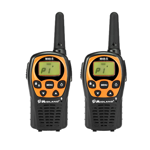 Midland M48S PMR446 Twin Pack Transceivers with Earpiece