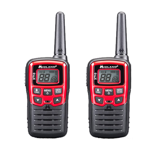 Midland XT10 PMR446 Twin Pack Transceivers