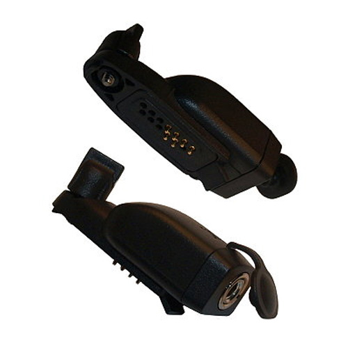 Motorola GP344 / 388 to Visar 3.5 mm Threaded Plug Type Audio Accessory Adapter