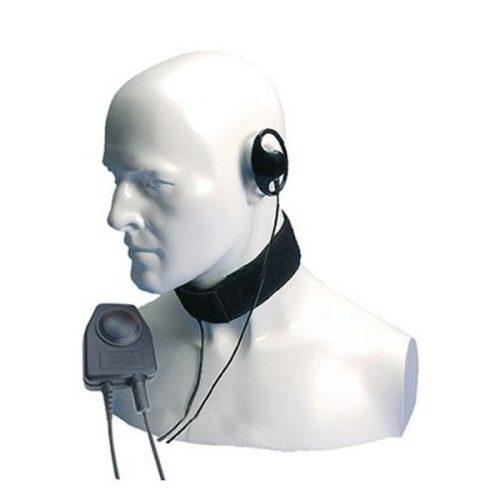 Entel CXR16/DT9 Bone Conductive Throat Microphone, Earpiece, c/w PTT-C/DT9