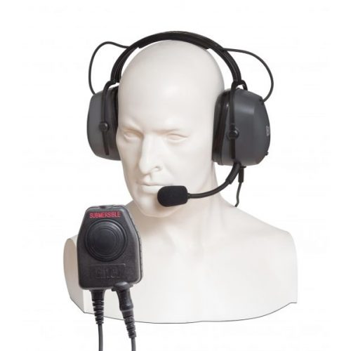 Entel CHP750D Double Ear-cup Defender with Large PTT / Comfort Headband