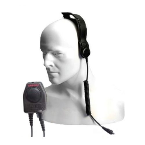 Entel CXR5/DX Bone Conductive Skull Microphone with Large In-Line PTT